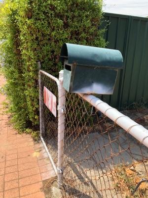 Abandoned house gate